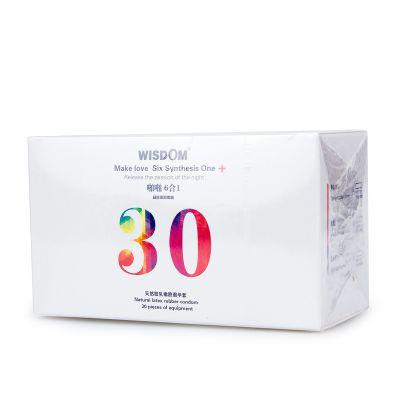威斯德曼Wisdom啪啪系列 男用避孕套 计生用品 安全套 6合1
