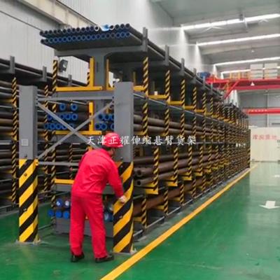 成都放钢材用的货架 伸缩悬臂货架价格 防止货物掉落 高承重