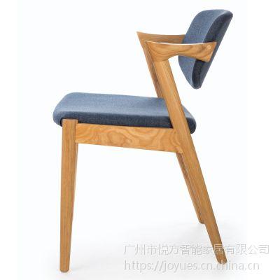 实木椅子现代简约休闲餐椅简易曲木北欧书桌椅电脑靠背扶手椅