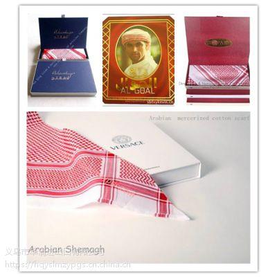 巴林款阿拉伯丝光棉礼盒头巾 Arabian mercerized cotton scarf