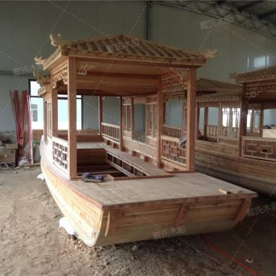 我厂定做仿古亭阁木船 景区观光画舫木船 全国案例