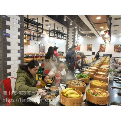 深圳厂家生产定制不锈钢回转火锅餐桌 旋转麻辣烫设备 小火锅设备