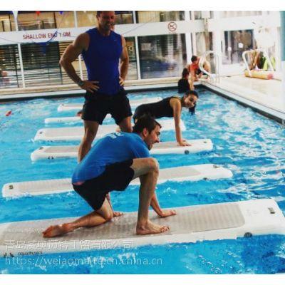 厂家直销充气水上瑜伽垫 充气防滑瑜伽垫 健身用