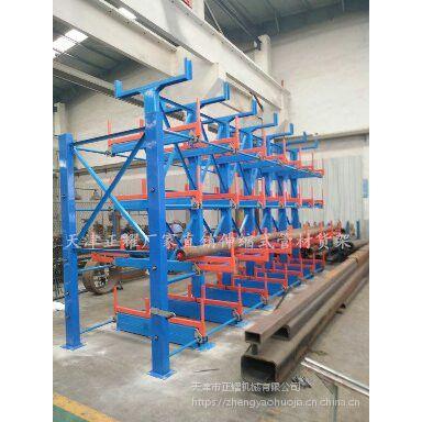 福建重型伸缩悬臂货架 行车配套货架 放棒材专用架