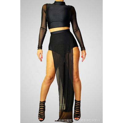 网布性感爆款帮带连衣裙 时尚款帮带裙子 夜店礼服性感裙 XG010