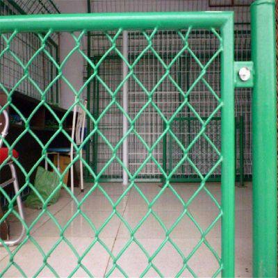 花园围墙网 包塑菱形网 学校操场护栏