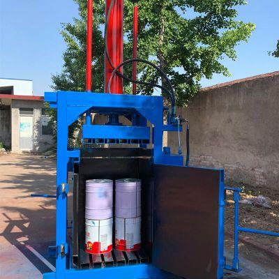 废金属废纸液压打包机 供应80吨油漆桶打包机 油漆桶压扁机