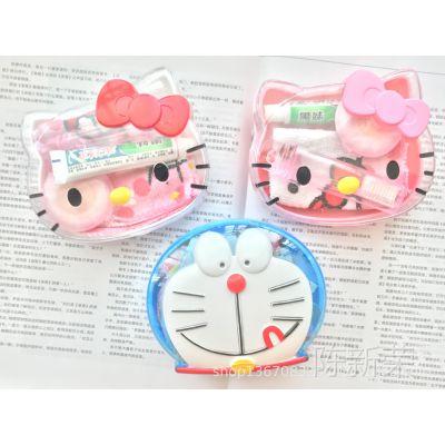 Hello Kitty KT 可爱卡通 头形 香皂盒洗漱四件随身 KT旅行套装