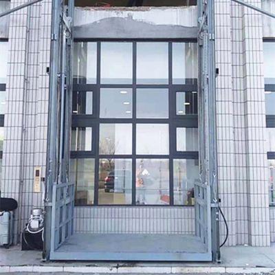 双缸双臂导轨式升降平台 液压式升降货梯 厂房简易电梯生产厂家