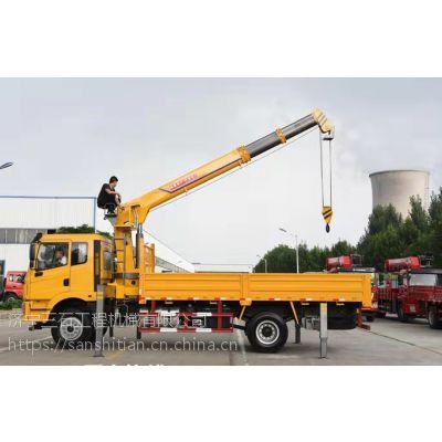 8吨大运随车吊 货箱5.8米随车吊