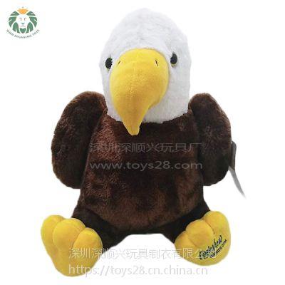 毛绒玩具厂家供应促销玩具定做动物老鹰毛绒公仔短毛绒