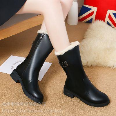 雪地靴女2018秋冬新款保暖加厚女靴棉鞋防滑中筒女式皮靴子