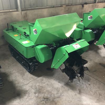 果园施肥开沟机哪里有卖 35马力自走式旋地施肥机 新疆柴油撒肥机