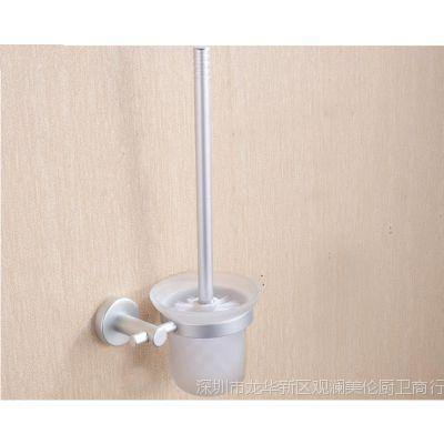 厂家直销太空铝马桶刷架 浴室厕所刷杯 卫浴五金挂件套装酒店工程