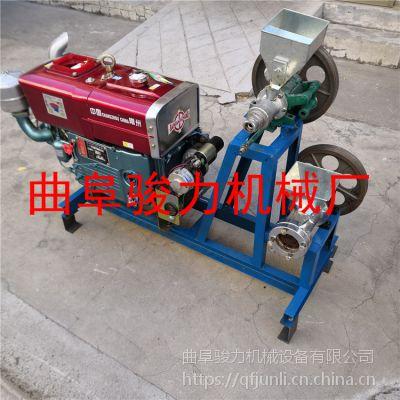平山县 小型玉米食品膨化机 骏力 天津糖酥果江米棍机 柴油机带动的海参果膨化机