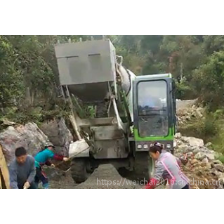 云南3.5方自上料混泥土搅拌车厂家 自动装料上水多方位卸料机