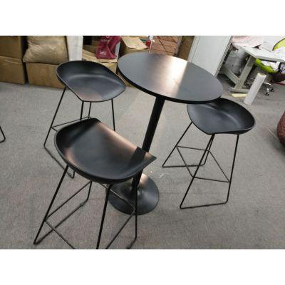 黑桌配白椅,吧桌配吧椅,北京展会桌休闲椅出租