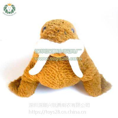 毛绒玩具厂家_公仔定制_精品毛绒玩具加工短毛绒动物公仔海象