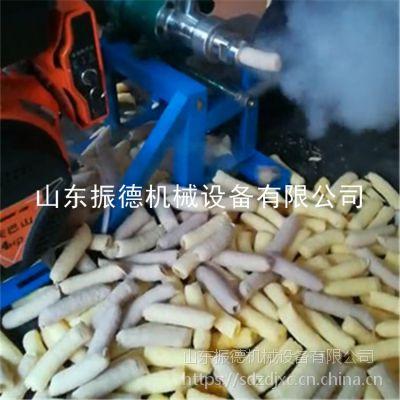 菏泽面粉玉米组合膨化机 操作视频振德 集市流动性膨化机 3号弯管型空心棒机价格