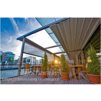 室外电动PVC伸缩遮阳蓬和防水电动遮阳棚