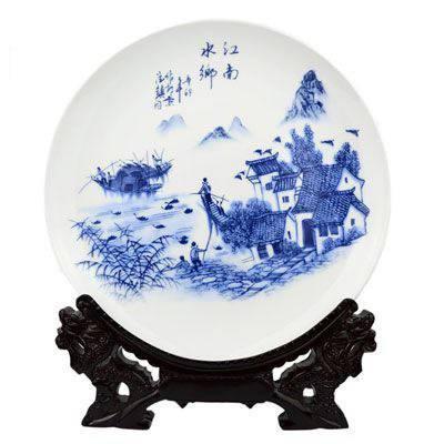 家居饰品盘子 客厅桌面摆件卧室酒店餐厅墙上装饰挂盘 定制瓷盘