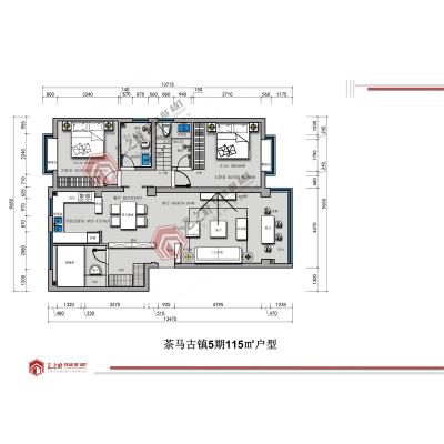 临沧装饰公司,云南艺之峰装饰工程有限公司,茶马古镇五期户型平面设计方案