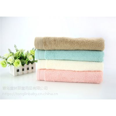 纯棉毛巾方巾浴巾沙滩巾多尺寸多颜色可定制
