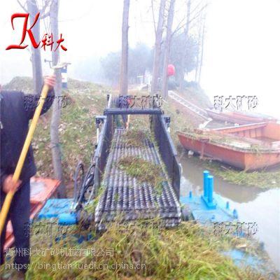 福州水草收割船现货 打捞水浮莲设备效果