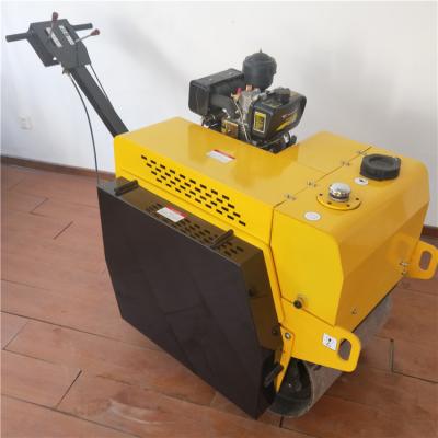 现货供应手扶双轮压路机 路边修复压实机 柴油振动小型压路机