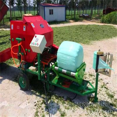 辽宁省玉米秸秆青贮机视频 青贮打捆包膜机价格