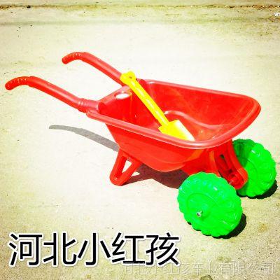 新款儿童大号沙滩车小推车双轮单轮手推车推土车戏水玩具工程车