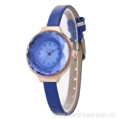 水晶菱面手表女学生韩版简约时尚潮流小表盘女表手表女款石英表