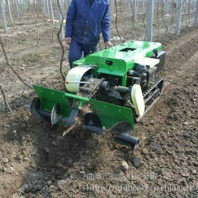 回填柴油履带开沟机 果树开沟机施肥机 启航山地开深沟机