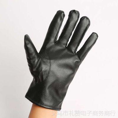 保暖触屏手套触摸屏手套加厚加绒秋冬款男女士触屏pu手套批发