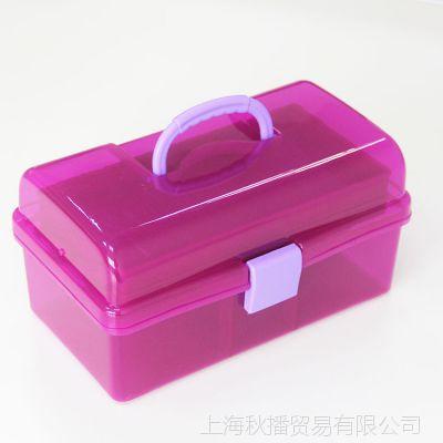厂家批发225优质PP塑料中号工具箱 多功能收纳箱美术 美甲