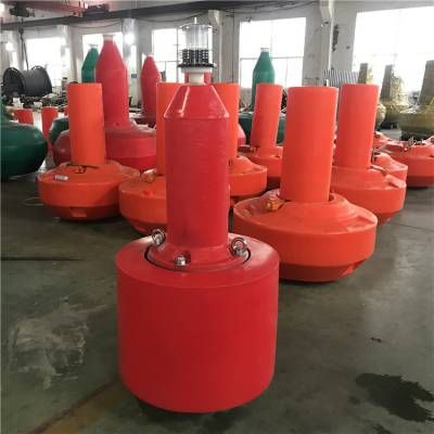湖泊施工区警示浮标 航道灯塔浮标 80cm小型塑料航标