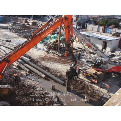 青浦区卡特KT349液压震动挖机式打桩机施工出租基坑围护 钢板路基板出租