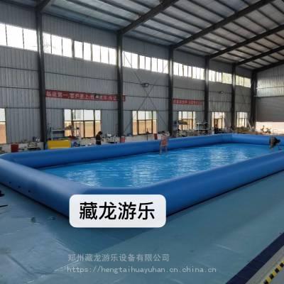 定制儿童充气水池游泳池 水上乐园设备pvc水池 小型pvc游泳卡通充气水池