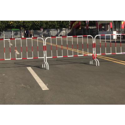 黄黑铁栏杆l红白铁栏杆l铁马护栏生产厂家