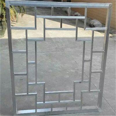 北京酒店环保型仿古铝窗花 无缝焊接铝花格
