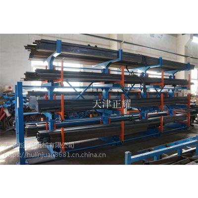 海门钢材货架存放管材 钢管 型材棒材 圆钢 工角槽钢 伸缩式结构使用行车存放钢材