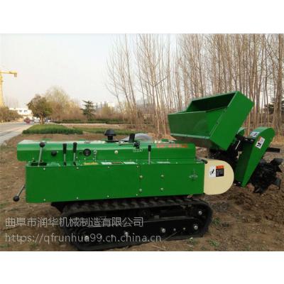 机械式耕整开沟机 松柏除草施肥机 润华 露天菜园施肥回填机