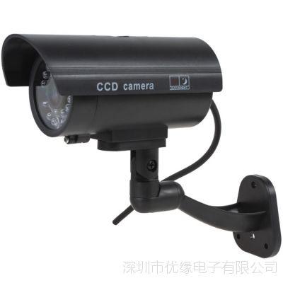 枪式仿真摄像头 防水假摄像头 假监控摄像机 带指示灯假监控器