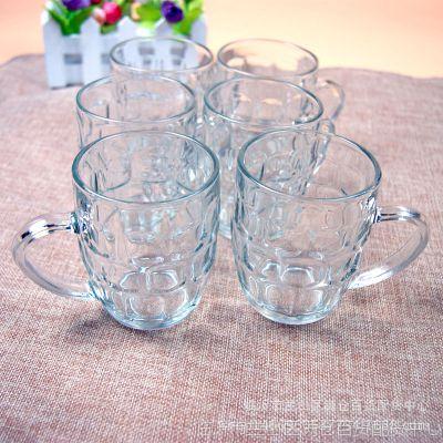 6个装玻璃杯啤酒杯菠萝杯带把地摊赶集热卖十元店日用百货货源