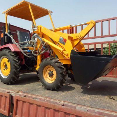 多功能小型装载抓木推雪机电启动轮式小铲车卡博恩农用装载机价格