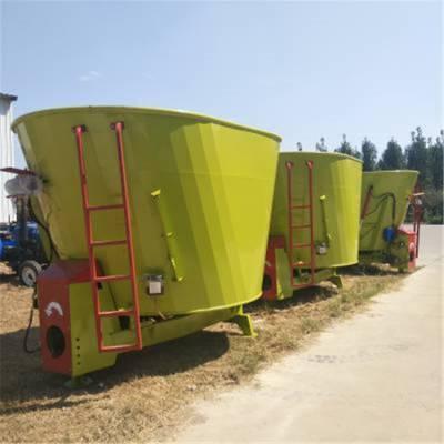 固定式甘草料搅拌机 牛羊养殖设备tmr混料机 多容量选着搅拌机