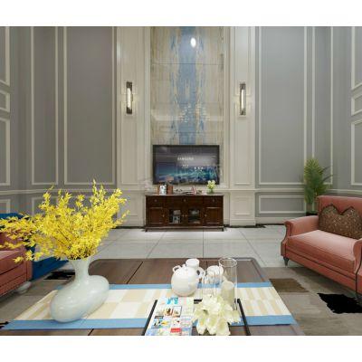照母山力帆红星紫檀庄园二期联排别墅简美风格设计方案效果图