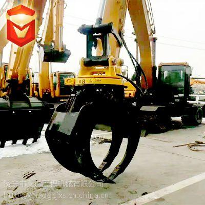 挖掘机配套抓木器 液压360度旋转夹木器 工厂现货