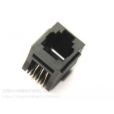供应兴伸展电子6P6CRJ12插座/PCB JACK电话母座/接口插座带耳程控机接口