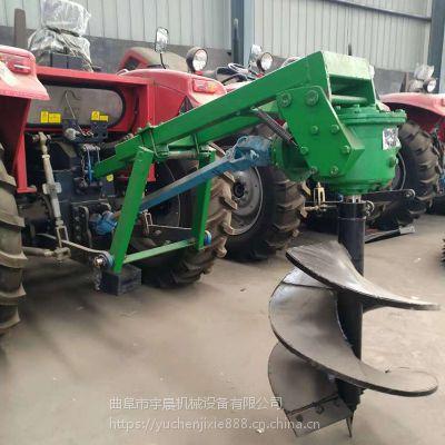 后悬挂种树挖窝机 拖拉机打洞机厂家 四轮拖拉机带挖坑机